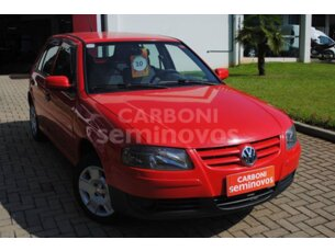 Super Oferta: Volkswagen Gol 1.0 (G4) (Flex) 4p 2009/2010 5P Vermelho Gasolina