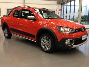 Super Oferta: Volkswagen Saveiro Cross 1.6 16v MSI (Flex) (Cab Dupla) 2014/2015 P Laranja Flex