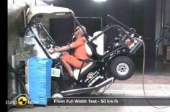 Quadriciclo a carrinho de golfe: os crash test bizarros