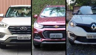 Os novos SUVs: Creta x Tracker x Captur