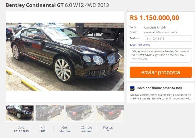 6e4c071987 Top 10: carros mais caros anunciados nos classificados - Notícias ...