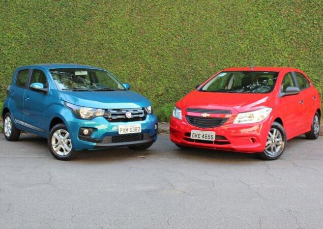 Comparativo Fiat Mobi Like On X Chevrolet Onix Joy Notcias Icarros