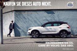 Volvo tenta convencer público a não comprar seus carros