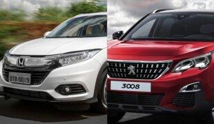 Em números: Honda HR-V Touring ou Peugeot 3008 Allure?